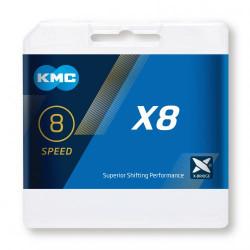 KETTING KMC X8 SILVER/GREY 116L + LINK 7.3mm BOX