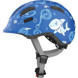 ABUS KINDERHELM SMILEY 2.0 blue SHARKY - MEDIUM