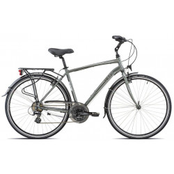 FIETS OLYMPIA-17 COLLEGE 21V - He/ 'S' (46) grijs/wit (16)