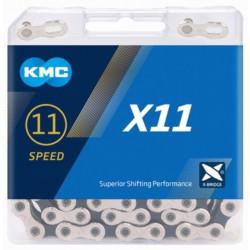 KETTING KMC X11 SILVER/BLACK 118L + LINK CL555R vrac/25st.