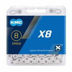 KETTING KMC X8 SILVER 114L + LINK 7.1mm BOX
