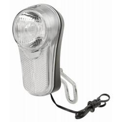 KOPLICHT AN-LUN LED - NAAFDYNAMO AAN/UIT 10 LUX DUBBELE KABEL