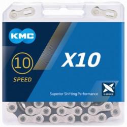 KETTING KMC X10 SILVER/BLACK 116L + LINK CL559R vrac/25st.