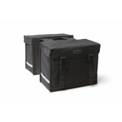 FIETSTAS NEW LOOXS CANVASTAS CAMPING DUBBEL Black (031.410)